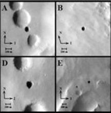火星表面7个奇特洞穴