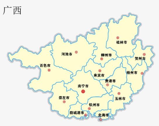 广西有多少个市_有哪些城市?